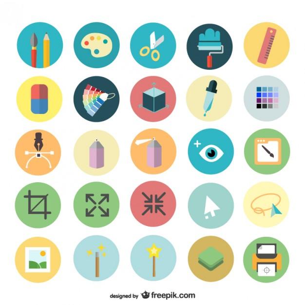 626x626 Art Design Icons Set Vector Free Download