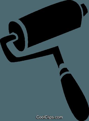 352x480 Paint Roller Royalty Free Vector Clip Art Illustration Vc024934