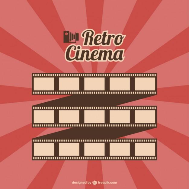 626x626 Film Roll Retro Cinema Poster Vector Free Download