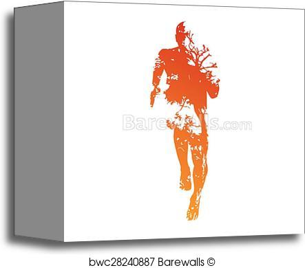 443x390 Canvas Print Of Abstract Vector Runner Barewalls Posters