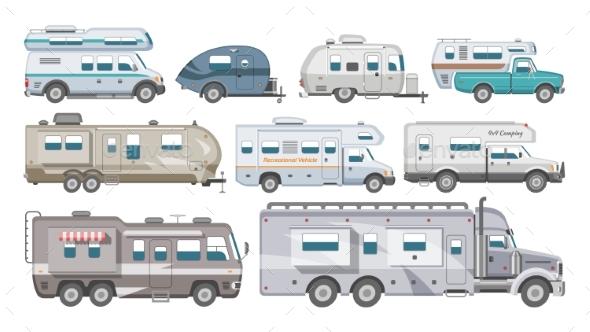 590x332 Caravan Vector Rv Camping Trailer And Caravanning By Pantimetrok