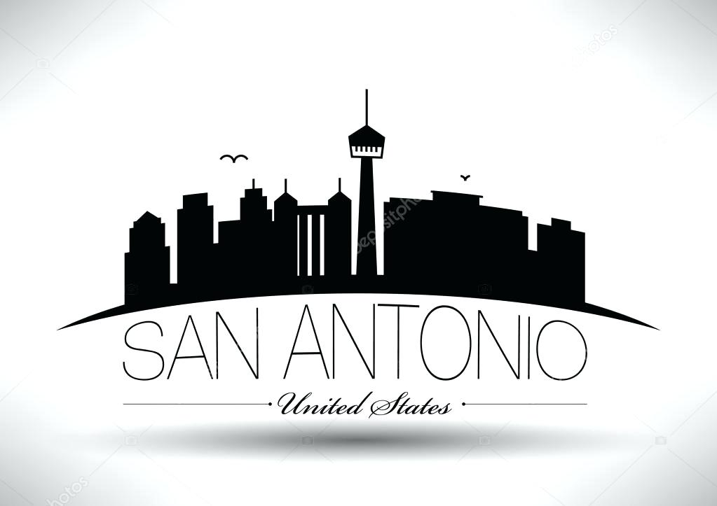 1023x723 San Antonio Design City Skyline Design Stock Vector David Weekley