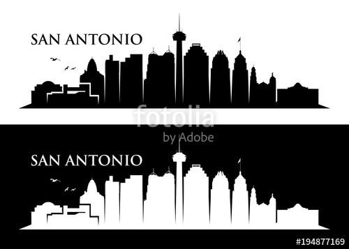 500x357 San Antonio Skyline Stock Image And Royalty Free Vector Files On