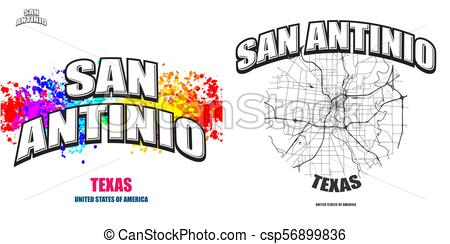 450x244 San Antonio, Texas, Two Logo Artworks. San Antonio, Texas, Logo