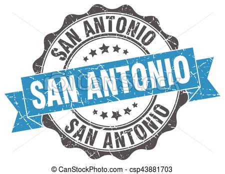 450x349 San Antonio Round Ribbon Seal Vector Clipart