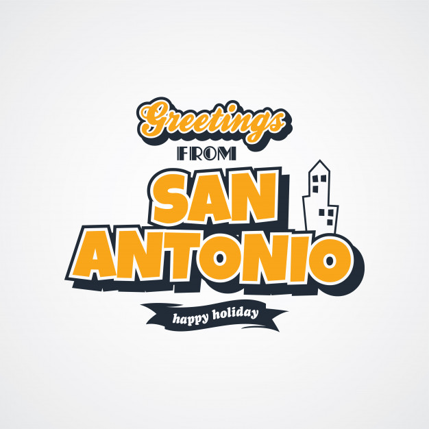 626x626 San Antonio Vacation Greetings Theme Vector Art Illustration