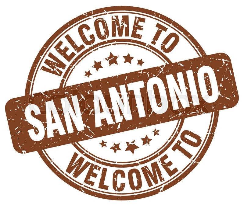 800x674 Welcome To San Antonio Brown Round Vintage Stamp Stock Vector