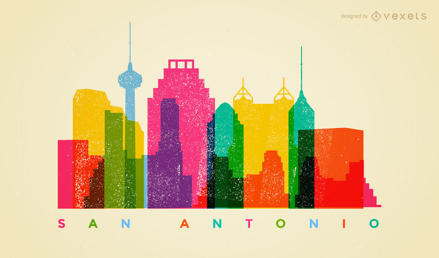 900x529 Colorful San Antonio Skyline