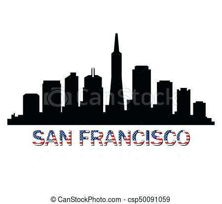450x413 San Francisco Skyline Silhouette And For Frame Stunning San