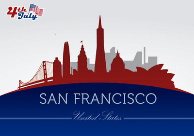 626x441 San Francisco City Buildings And Landmarks Vector Free Download