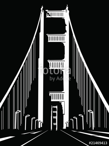 374x500 San Francisco Vector Bridge Stock Image And Royalty Free Vector