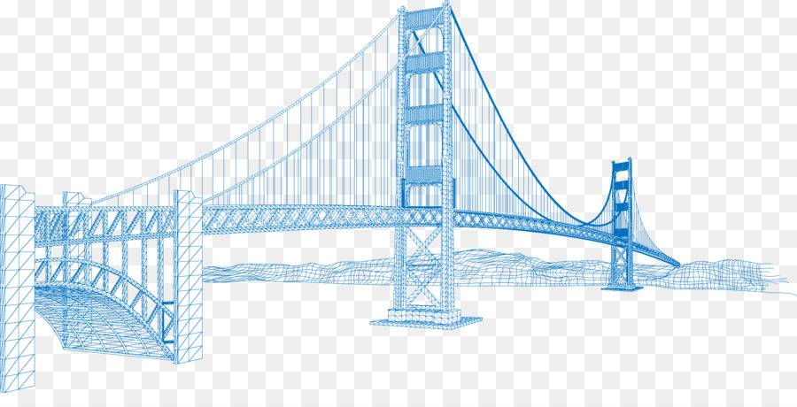 900x460 Golden Gate Bridge Eiffel Tower Vector Building