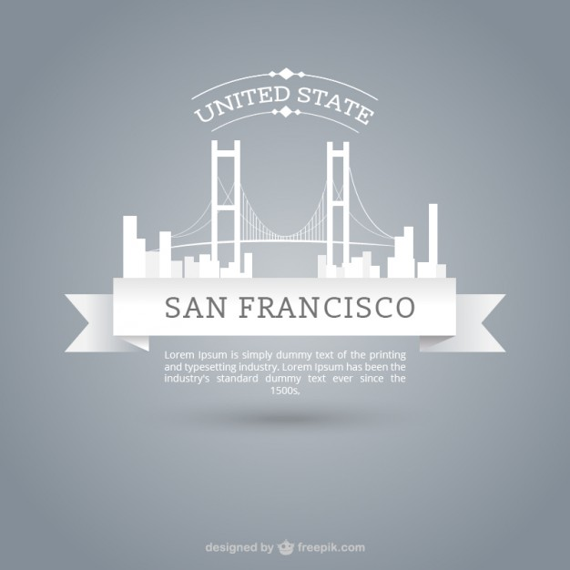 626x626 Skyline Of San Francisco Vector Free Download
