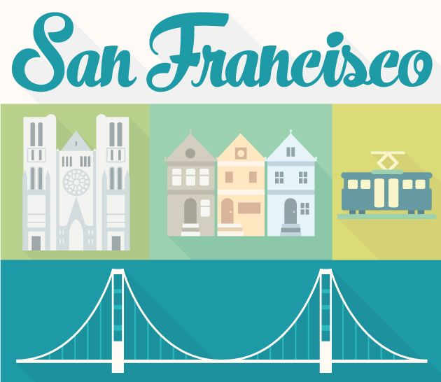 630x546 Designtnt Vector City San Francisco Design Inspiration
