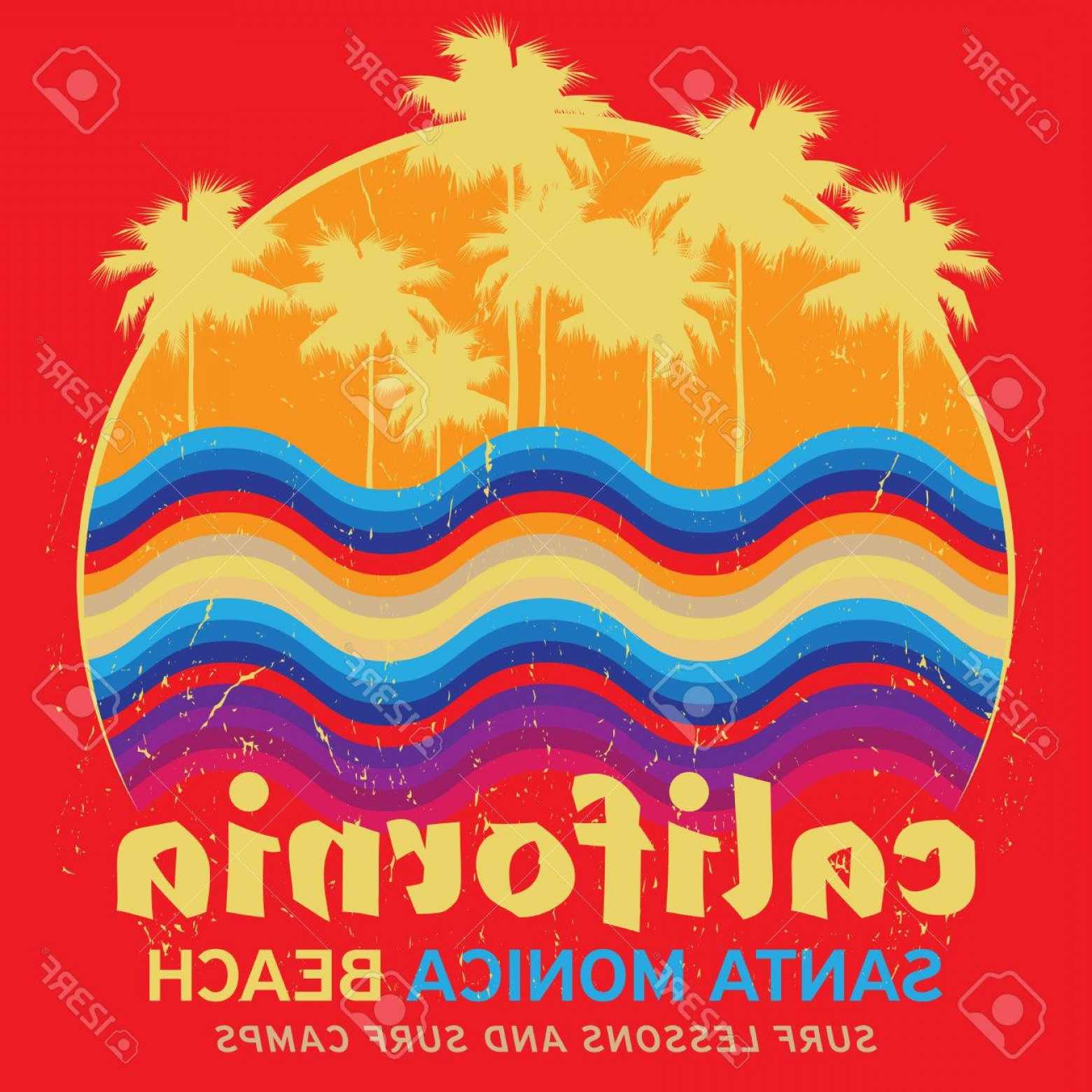1560x1560 Photostock Vector Theme Of Surfing With Text California Santa