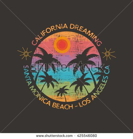 450x470 Vector Illustration On The Theme Of Surf And Surfing In Santa