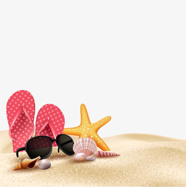 650x651 Summer Beach Beach Scene Vector, Beach Side Scene, Summer Vector