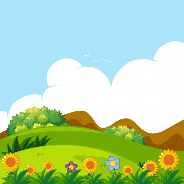 626x626 Background Scene With Green Lawn Vector Free Download