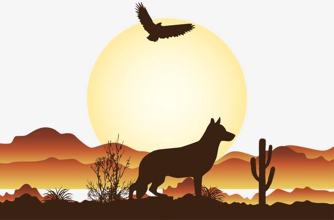 650x429 Vector Illustration Desert Scene, Desert Scene, Desert, Vector Png