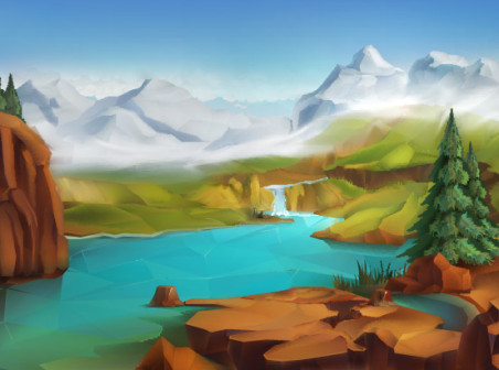 452x336 Beautiful Scenery Vector Background (7) Free Vector Background