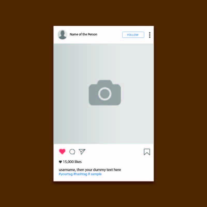 800x800 Instagram Ui Screen Template Design Free Vector Download