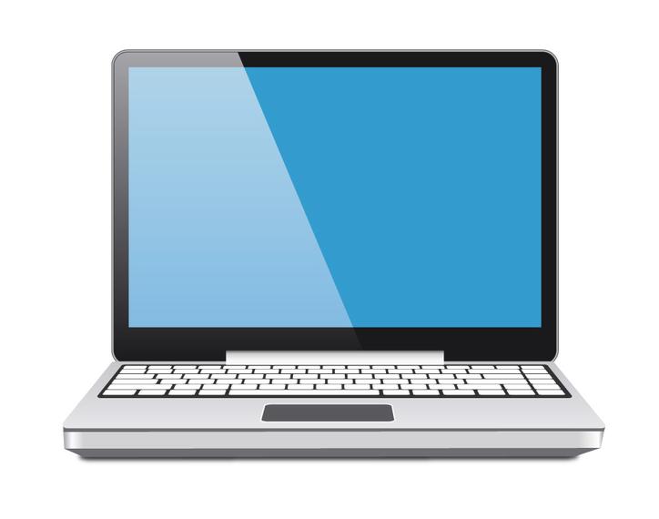 724x570 Laptop Vector Blue Screen