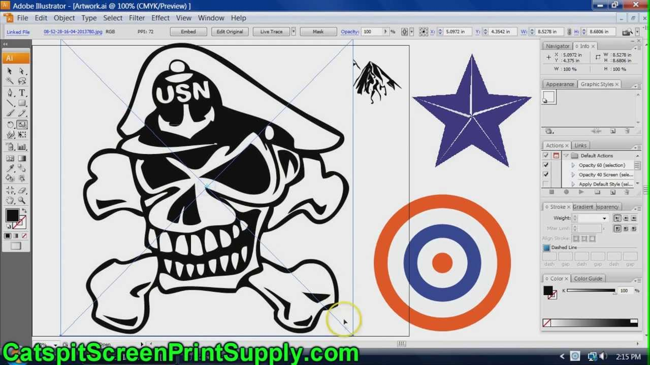 1280x720 5. Screenprinting Art How To Auto Trace Image Files To Vector In