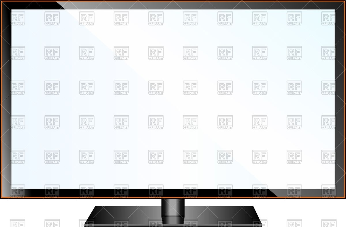 1200x787 Tv Flat Screen Lcd, Plasma Realistic Vector Illustration Vector