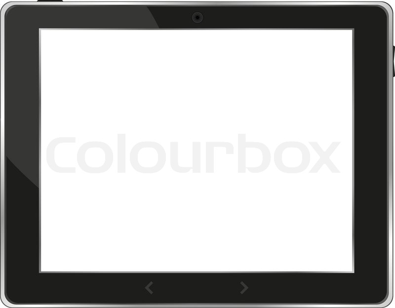 800x624 Black Vector Tablet Pc With White Screen Stock Vector Colourbox
