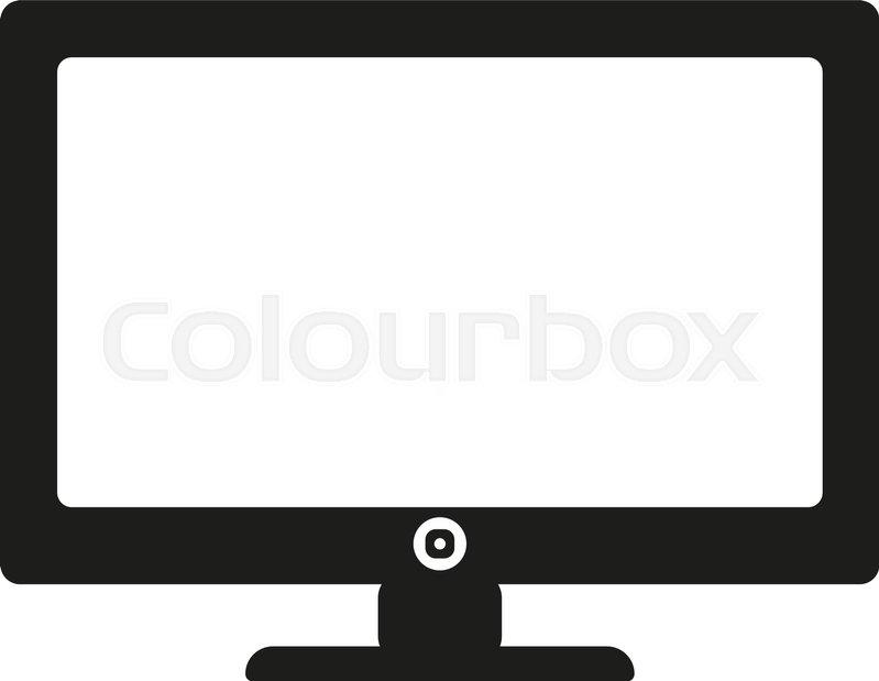 799x619 The Screen Icon. Monitor Symbol. Flat Vector Illustration Stock