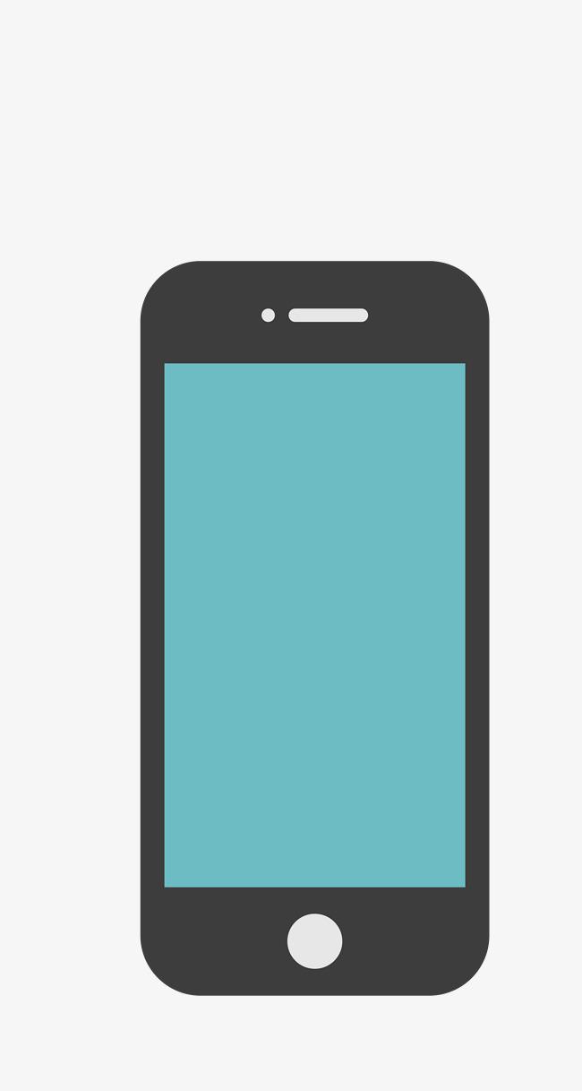 650x1217 Vector Blue Simple Phone Screen, Blue Vector, Phone Vector, Vector