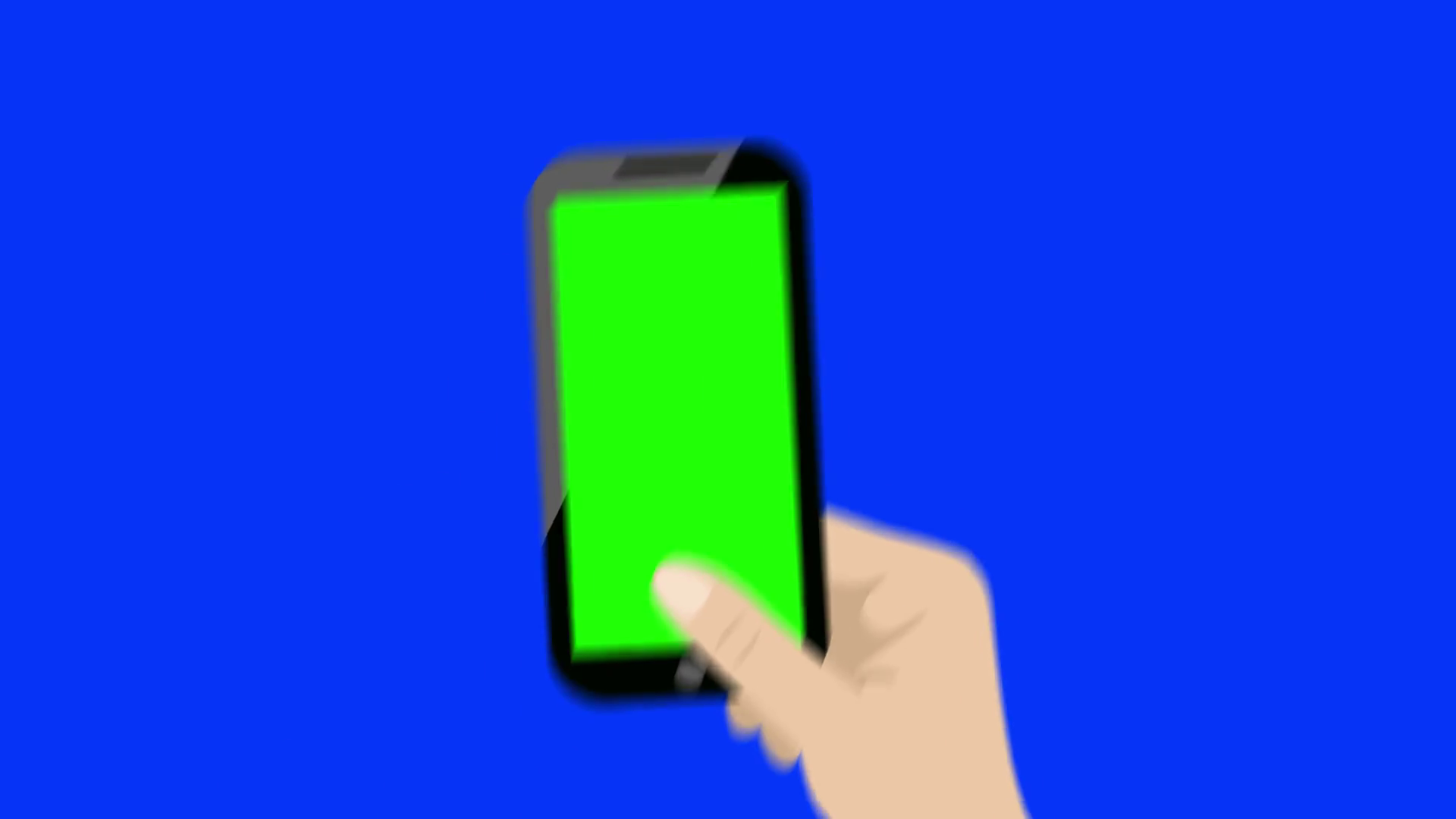 1920x1080 Vector Hand Holding A Smart Phone Vertically With Green Screen