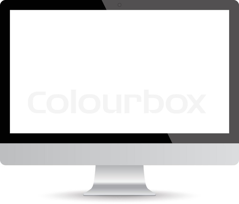 800x683 Computer Screen, 3d Lcd Monitor On Isolated White Background