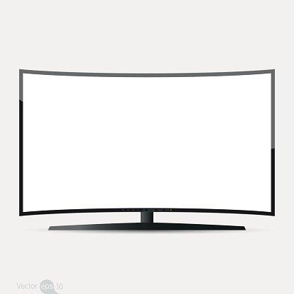 416x416 Curved Tv Screen, Vector Stock Vectors