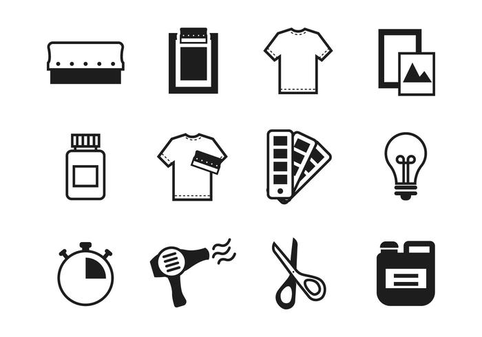 700x490 Free Screen Printing Icons Vector