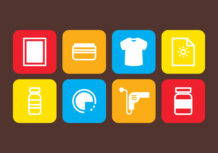 700x490 Screen Printing Icons