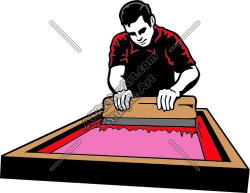 500x387 Screen Printing Vector Art Screenprintjk03 Clipart And Vectorart