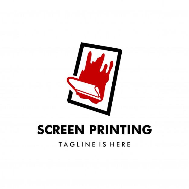 626x626 Silk Screen Printing Vector Logo Template Vector Premium Download