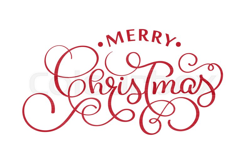 800x534 Merry Christmas Red Handwritten Lettering Inscription Xmas Holiday