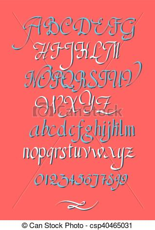 318x470 Calligraphic Vector Script Font. Handwritten Brush Style Modern
