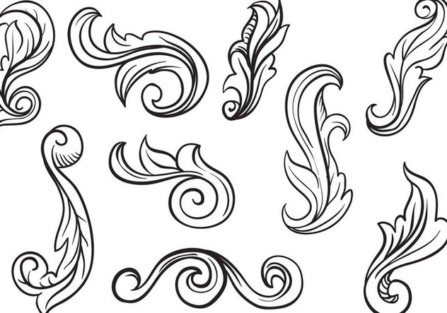 632x443 Free Scrollwork Vectors Free Vector Download 401895 Cannypic