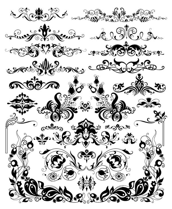 600x729 Roundup Of Free Vintage Ornament Amp Floral Vectors