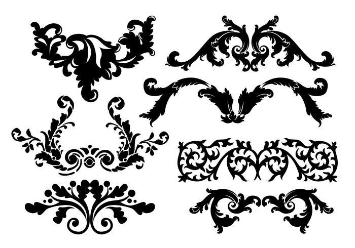 700x490 Scrollwork Embellishments Vectors