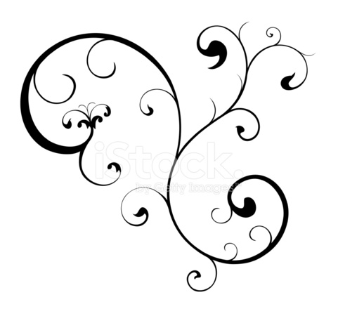 481x440 Swirl Scroll Vector Design Stock Vector