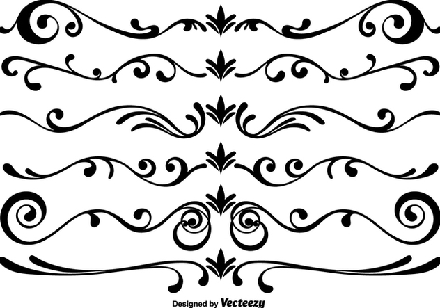632x443 Vector Scrollwork Elements Free Vector Download 365393 Cannypic