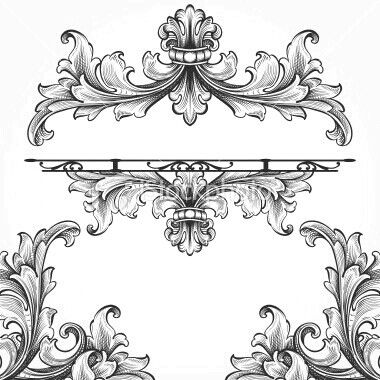 380x380 Vector Scroll Work Dlia Eskizov Flourish, Metal