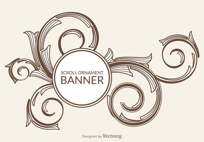 700x490 Free Scroll Ornament Vector Banner