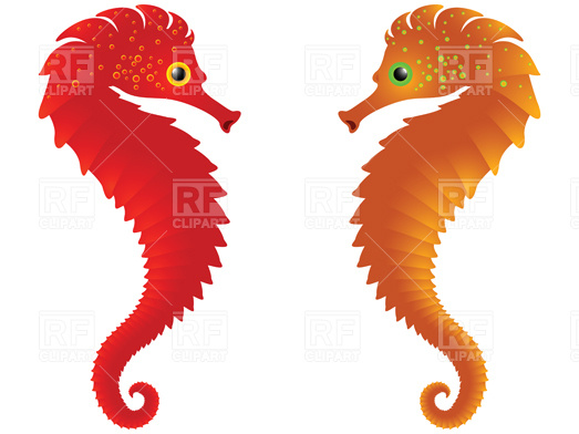 523x392 Sea Horses Vector Image Vector Artwork Of Plants And Animals