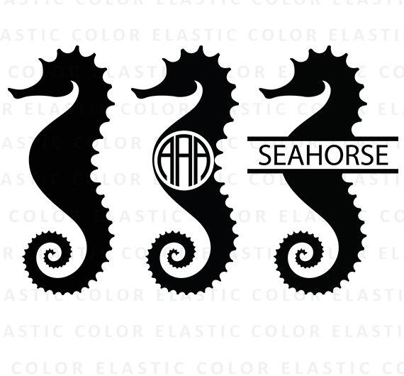 570x530 Seahorse Clipart Monogram ~ Frames ~ Illustrations ~ Hd Images