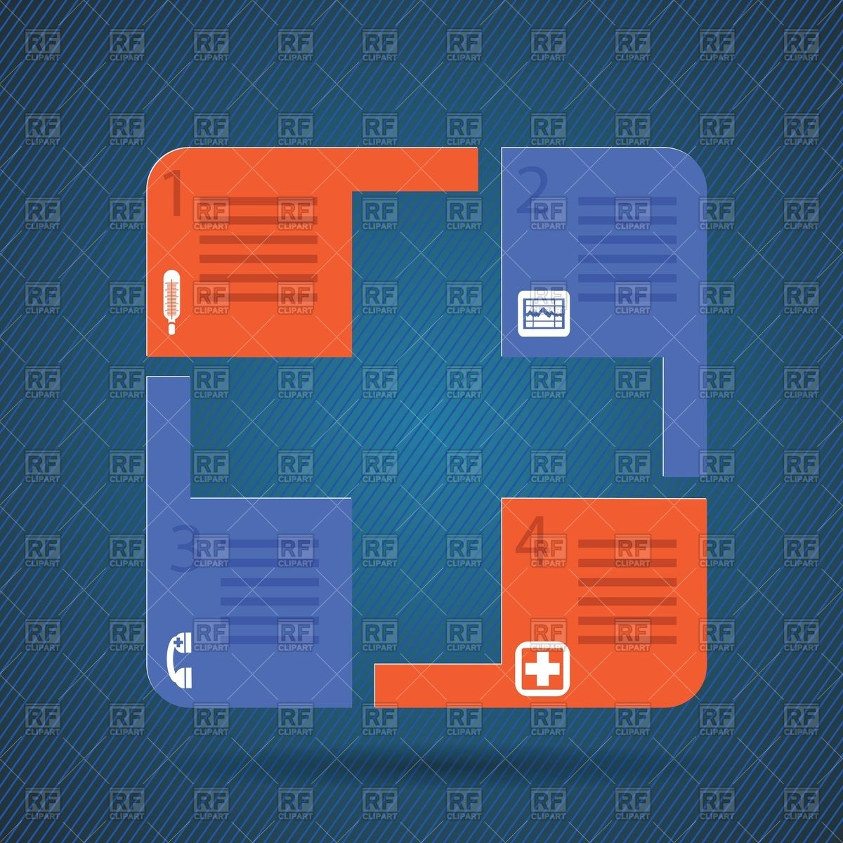 1200x1200 Medical Sequence Chart Vector Image Vector Artwork Of Healthcare